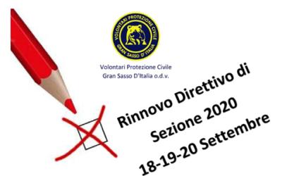 Rinnovo Direttivo di Sezione 2020